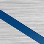 Szczotkowany Srebrny/Niebieski