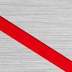 Szczotkowany Srebrny/Czerwony