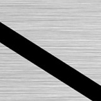 Szczotkowany Srebrny/Czarny