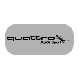 QUATTRO Audi Sport Emblematy boczne 2 szt.