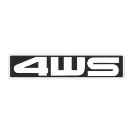 4WS Emblemat tylny