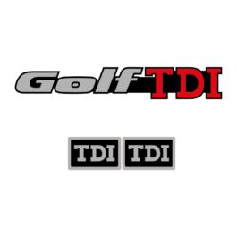GOLF TDI Emblemat tylny i boczne, kpl.