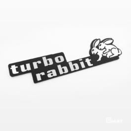 TURBO RABBIT Emblemat tylny