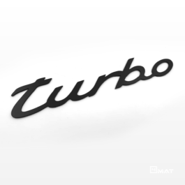 TURBO Emblemat tylny