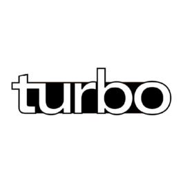 TURBO Emblemat przedni