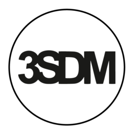 3SDM Dekielki do felg grawerowane kpl.